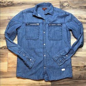 Kids 7 for All Mankind Jean Shirt sz XL